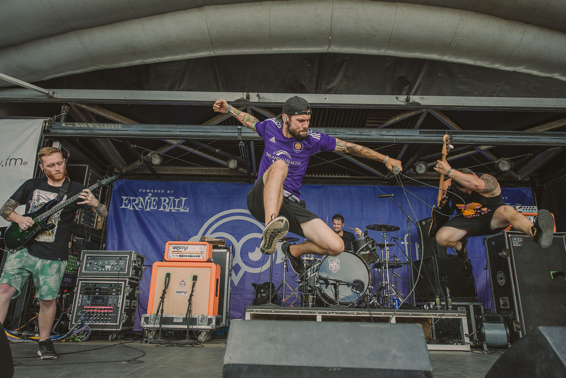 capstan anthony demario boz andrew bozymowski joe mabry scott fischer warped tour jumping band concert rock photo photography image